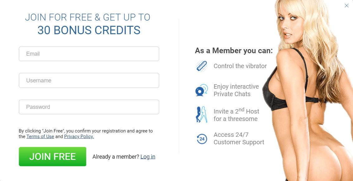 ImLive Free Registration Form