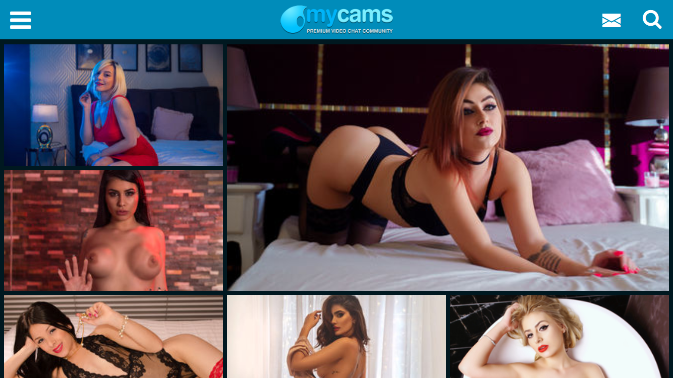 MyCams Mobile friendly Site